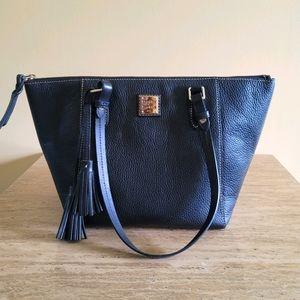Dooney & Bourke Black Pebble Satchel Handbag